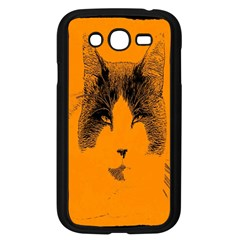 Cat Graphic Art Samsung Galaxy Grand Duos I9082 Case (black) by Nexatart