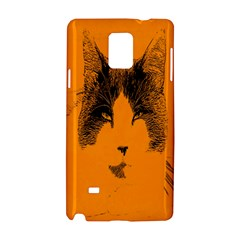 Cat Graphic Art Samsung Galaxy Note 4 Hardshell Case by Nexatart