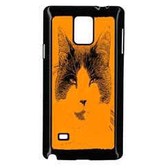 Cat Graphic Art Samsung Galaxy Note 4 Case (black)