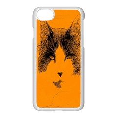 Cat Graphic Art Apple Iphone 7 Seamless Case (white) by Nexatart