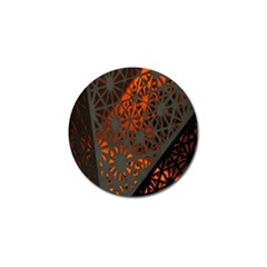 Abstract Lighted Wallpaper Of A Metal Starburst Grid With Orange Back Lighting Golf Ball Marker (10 Pack) by Nexatart