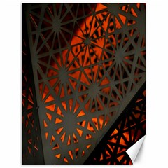 Abstract Lighted Wallpaper Of A Metal Starburst Grid With Orange Back Lighting Canvas 12  X 16   by Nexatart