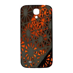Abstract Lighted Wallpaper Of A Metal Starburst Grid With Orange Back Lighting Samsung Galaxy S4 I9500/i9505  Hardshell Back Case by Nexatart