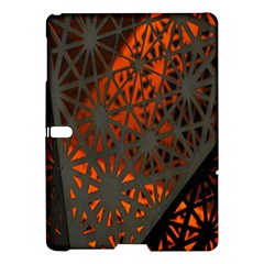 Abstract Lighted Wallpaper Of A Metal Starburst Grid With Orange Back Lighting Samsung Galaxy Tab S (10 5 ) Hardshell Case  by Nexatart