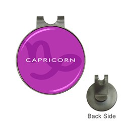 Zodiac Capricorn Purple Hat Clips With Golf Markers by Mariart