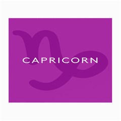 Zodiac Capricorn Purple Small Glasses Cloth by Mariart