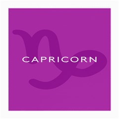 Zodiac Capricorn Purple Medium Glasses Cloth (2 Side) by Mariart
