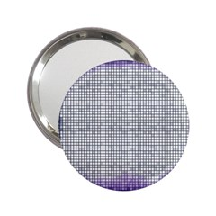 Purple Square Frame With Mosaic Pattern 2 25  Handbag Mirrors by Nexatart