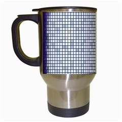 Purple Square Frame With Mosaic Pattern Travel Mugs (white) by Nexatart