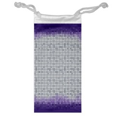 Purple Square Frame With Mosaic Pattern Jewelry Bag