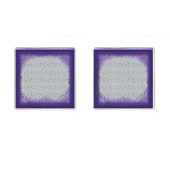 Purple Square Frame With Mosaic Pattern Cufflinks (square)