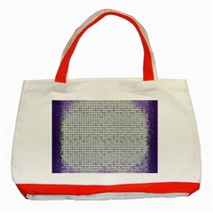 Purple Square Frame With Mosaic Pattern Classic Tote Bag (red) by Nexatart