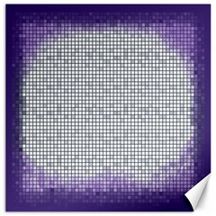 Purple Square Frame With Mosaic Pattern Canvas 20  X 20   by Nexatart