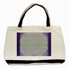 Purple Square Frame With Mosaic Pattern Basic Tote Bag (two Sides) by Nexatart