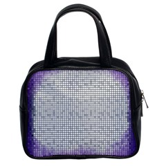 Purple Square Frame With Mosaic Pattern Classic Handbags (2 Sides)