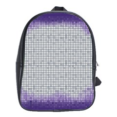 Purple Square Frame With Mosaic Pattern School Bags(large)  by Nexatart