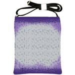 Purple Square Frame With Mosaic Pattern Shoulder Sling Bags Front