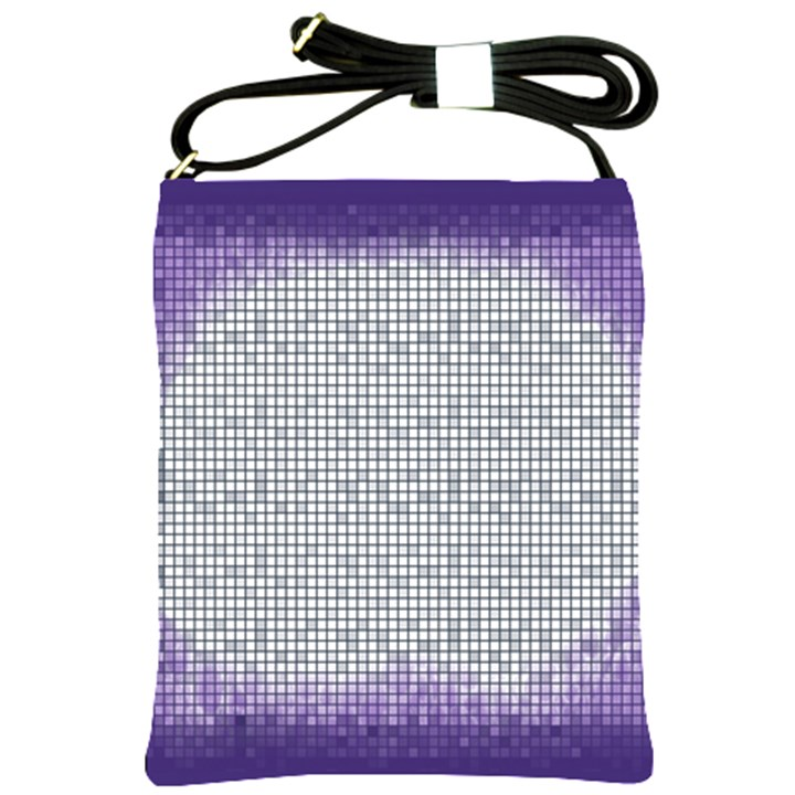 Purple Square Frame With Mosaic Pattern Shoulder Sling Bags