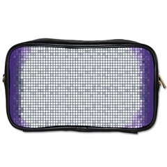 Purple Square Frame With Mosaic Pattern Toiletries Bags by Nexatart