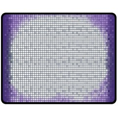 Purple Square Frame With Mosaic Pattern Fleece Blanket (medium)