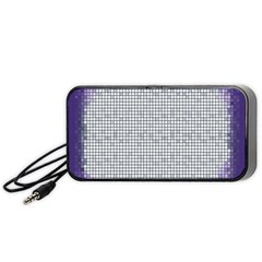 Purple Square Frame With Mosaic Pattern Portable Speaker (black) by Nexatart