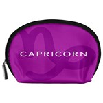 Zodiac Capricorn Purple Accessory Pouches (Large)  Front