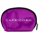 Zodiac Capricorn Purple Accessory Pouches (Large)  Back