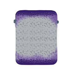 Purple Square Frame With Mosaic Pattern Apple Ipad 2/3/4 Protective Soft Cases by Nexatart