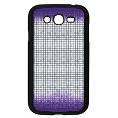Purple Square Frame With Mosaic Pattern Samsung Galaxy Grand Duos I9082 Case (black) by Nexatart