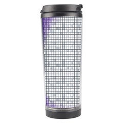 Purple Square Frame With Mosaic Pattern Travel Tumbler by Nexatart