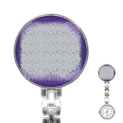 Purple Square Frame With Mosaic Pattern Stainless Steel Nurses Watch by Nexatart