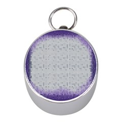 Purple Square Frame With Mosaic Pattern Mini Silver Compasses
