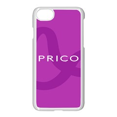 Zodiac Capricorn Purple Apple Iphone 7 Seamless Case (white) by Mariart