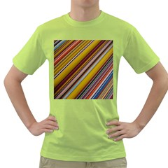 Colourful Lines Green T Shirt by Nexatart