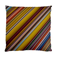 Colourful Lines Standard Cushion Case (one Side) by Nexatart