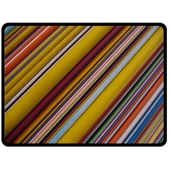 Colourful Lines Fleece Blanket (large)