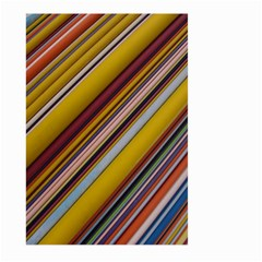 Colourful Lines Large Garden Flag (two Sides) by Nexatart