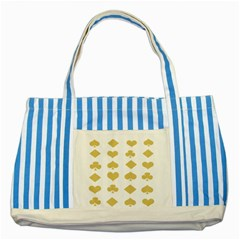Card Symbols Striped Blue Tote Bag by Mariart