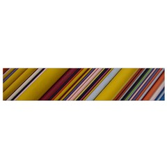 Colourful Lines Flano Scarf (small) by Nexatart
