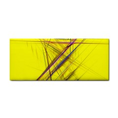 Fractal Color Parallel Lines On Gold Background Cosmetic Storage Cases
