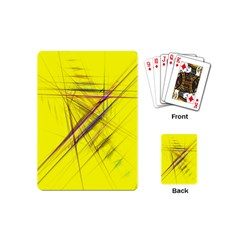 Fractal Color Parallel Lines On Gold Background Playing Cards (mini)  by Nexatart