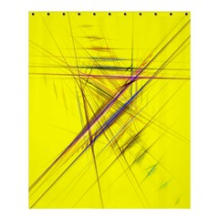 Fractal Color Parallel Lines On Gold Background Shower Curtain 60  X 72  (medium)  by Nexatart