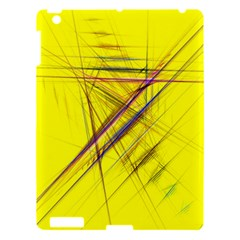 Fractal Color Parallel Lines On Gold Background Apple Ipad 3/4 Hardshell Case by Nexatart