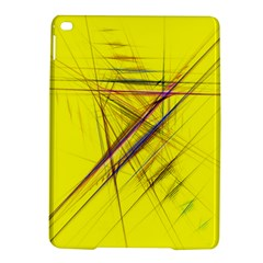 Fractal Color Parallel Lines On Gold Background Ipad Air 2 Hardshell Cases by Nexatart