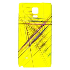 Fractal Color Parallel Lines On Gold Background Galaxy Note 4 Back Case