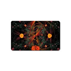 Fractal Wallpaper With Dancing Planets On Black Background Magnet (name Card)