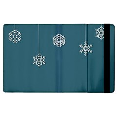 Blue Snowflakes Christmas Trees Apple Ipad 2 Flip Case by Mariart