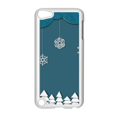 Blue Snowflakes Christmas Trees Apple Ipod Touch 5 Case (white) by Mariart