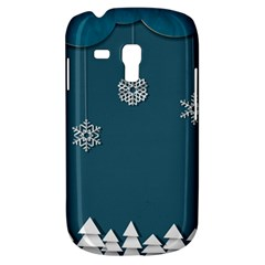 Blue Snowflakes Christmas Trees Galaxy S3 Mini by Mariart