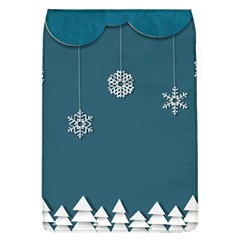 Blue Snowflakes Christmas Trees Flap Covers (l)  by Mariart